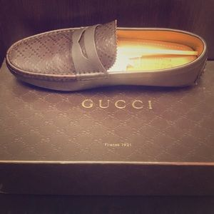 NEW GUCCI HILARY DIAMENTE LUX DRIVING LOAFER